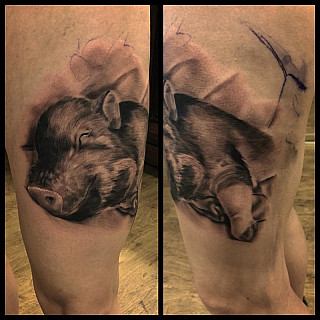 Her name is Yesica, she is cutie! #markuskoskela #downundertattoo #tatuointiliike #lappeenranta #goodinkbulgaria #goodink