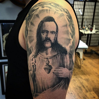 Healed pic of our god! Hope he rocks at heaven! Kiitti mr. Kiuru! #markuskoskela #downundertattoo #tatuointistudio #lappeenranta